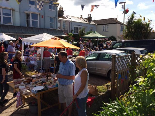 Shaldon street party for Queens 90th